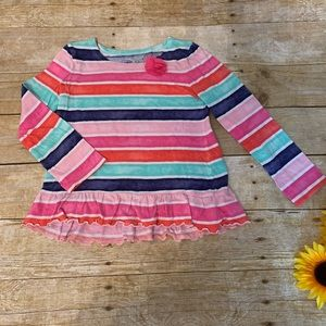 Girls stripe top by Jumping Beans. Size 4t